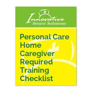 Personal Care Home Caregiver Required Training Checklist cover