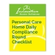 Personal Care Home Daily Compliance Round Checklist cover