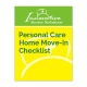 Personal Care Home Move-In Checklist cover