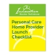 Personal Care Home Provider Launch Checklist cover