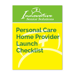 Personal Care Home Provider Launch Checklist cover